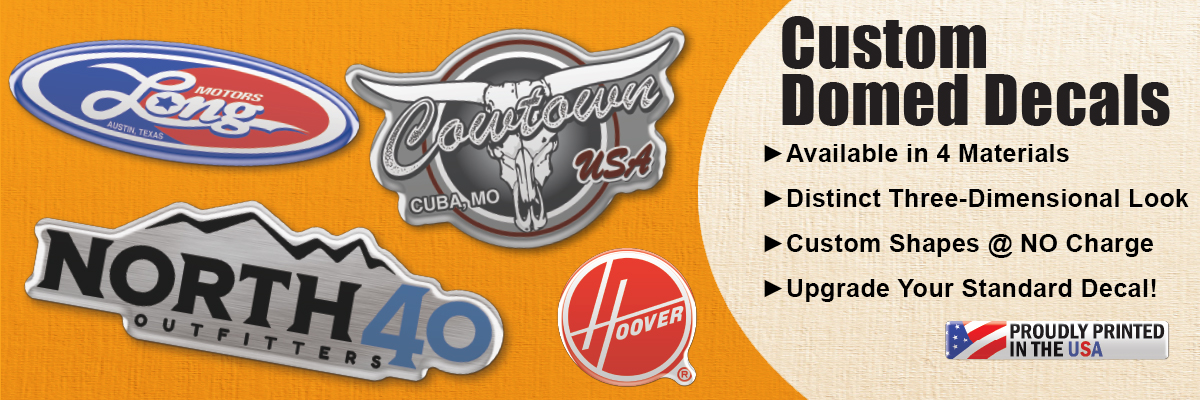Custom Domed Decals
